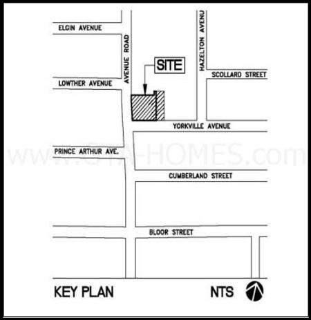 33 Avenue Rd Site Map in Yorkville